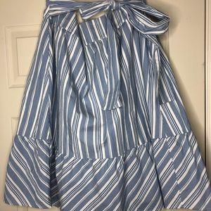 J Crew tie front A line skirt
